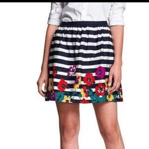 Striped & floral skirt. NWOT